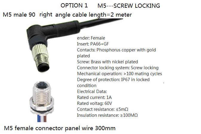 IP67 Waterproof M8 3-Pin Female Copper Sensor Connector Plug Screw Threaded US
