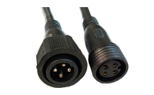LED 4芯公母对插防水线 LED 4 core male and female plug waterproof cable